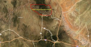 Grand Canyon National Park IBA GIS map - zoomed out