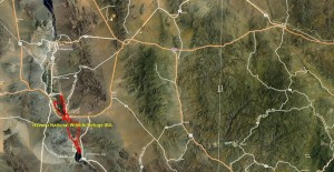 Havasu National Wildlife Refuge IBA GIS Map - zoomed out