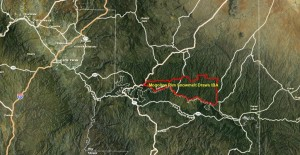 Mogollon Rim Snowmelts Draw IBA GIS Map - zoomed out