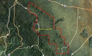 Anderson Mesa IBA GIS map
