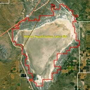 Willcox PlayaCochise Lakes IBA GIS Map