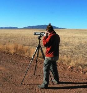 Matt Griffiths scoping for birds