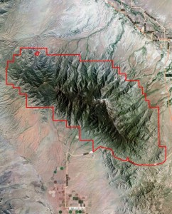 Piñaleno Mountains IBA boundary