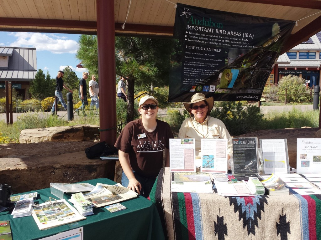 Jennie and Tice at outreach booth for Wildlife Day