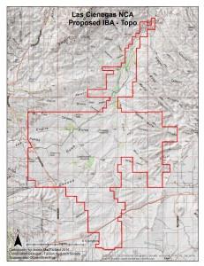 Las Cienegas Topological Map