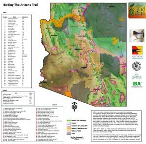 Birding the Arizona Trail - screen shot of map