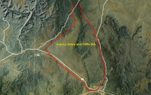 Aubrey Valley and Cliffs IBA GIS map