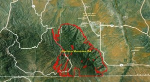 Huachuca Mountains IBA GIS Map - zoomed out