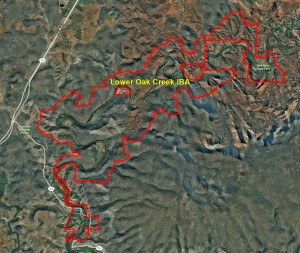Lower Oak Creek IBA GIS Map