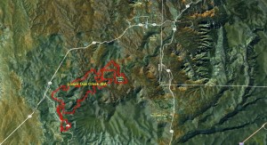Lower Oak Creek IBA GIS Map - zoomed out
