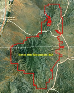 Santa Rita Mountains IBA GIS Map