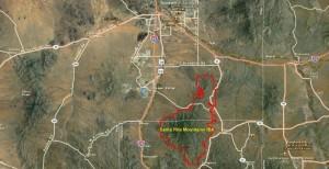 Santa Rita Mountains IBA GIS Map - zoomed out