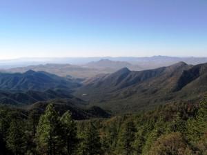 Santa Rita Mountains by airplane journal