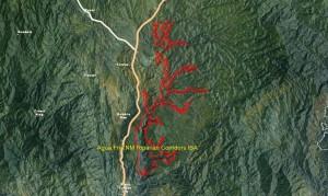 Agua Fria NM Riparian Cooridors IBA GIS map