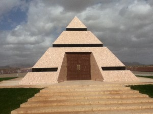 The pyramid that houses the center of the world!