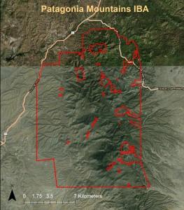 Patagonia Mountains IBA GIS map