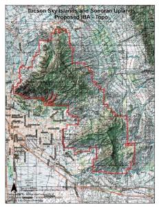 Tucson Sky Islands Topological Map