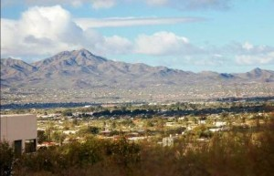 Santa Catalinas from Tucson. Photo by Donna Sutton